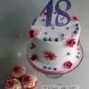 Caroline - 18th birthday cupcakes