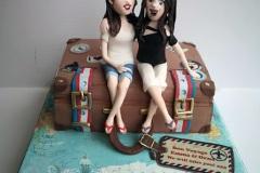 Emma & Orna - Bon Voyage Cake