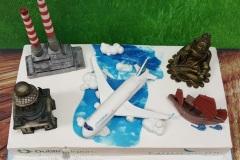 Cathay Pacific Inaugural Flight Cake