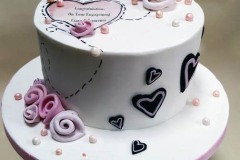 Ciara & Laurence Engagement Cake