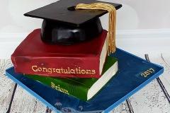 Brian - Graduation Cake / Books Cake
