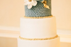 Sarah and Michael - Teal and Gold Wedding Cake