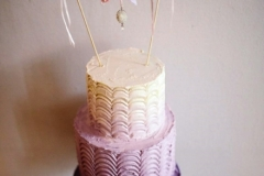 Grainne and Paul - Ombre Wedding Cake