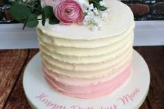 Ivory and blush buttercream wedding cake