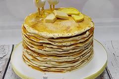 Brendan & Becca - Pancake Wedding Cake