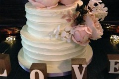 Kylie and Dave - Rustic Peony Wedding Cake