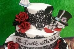 Marta and Damien - Gothic / Skulls Wedding Cake