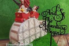Paula and John - Rollercoaster Wedding Cake