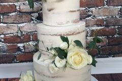Emily & Claire - Semi Naked Wedding Cake