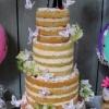 Rebecca and Wes - Naked Wedding Cake