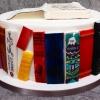 Maria and Garrett - Favourite Books Wedding Cake