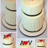 Vanessa and Andrew - White Chocolate Ganache Wedding Cake