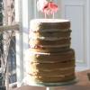 Kim and Richard- Naked Wedding Cake Dessert Table