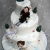 Colm and Eilish - Skiing Wedding Cake