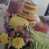 Ben and Rachel - Dessert Table Wedding Cake
