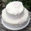 Hydrangea White Wedding Cake