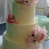 Lorraine & Brian - White Chocolate Ganache Wedding Cake