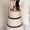 John and Joanne - Simple Wedding Cake