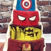 Emma and Fran - Superheroes Vs Classic Wedding Cake