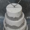 Grainne and Brendan - Bling wedding cake