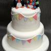 Ailish & Eugene- Penguin Wedding Cake