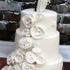 Katie and Ben - Ribbon Rose Wedding Cake