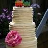 Belle and Damien - White Ganache Rustic Wedding Cake